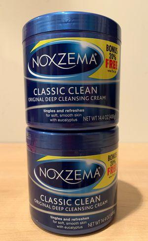 Set of 2 big 14.4 oz Noxzema Classic Clean original deep cleansing cream for Sale in Alexandria, VA