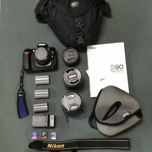 Nikon D90 Package- 4 Lenses Included for Sale in San Diego, CA