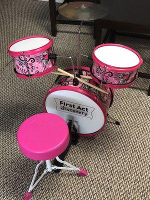 Kids Drum Set w/ seat for Sale in Westland, MI