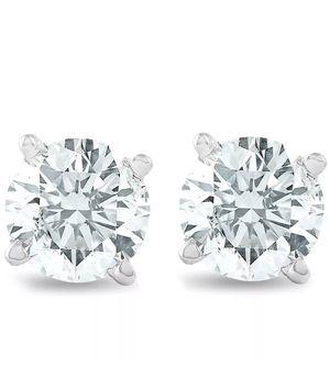 1 1/4 CCTW Diamond Studs 14K White Gold lGl Certified Earrings 40% Off! for Sale in Los Angeles, CA