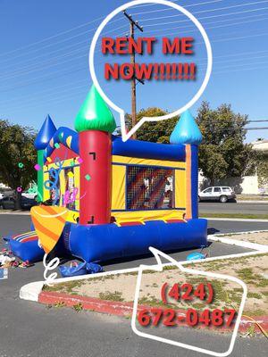 Jumper, tent, tables, chairs, popcorn machine, cotton candy machine, hot dog roller machine, snow cone machine. for Sale in Corona, CA