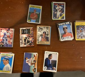 100 random baseball, hockey, football trading player cards for Sale in Minneapolis, MN