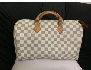 LV Speedy Boston Bag White Canvas Damier Azur Dr for Sale in Las Vegas, NV