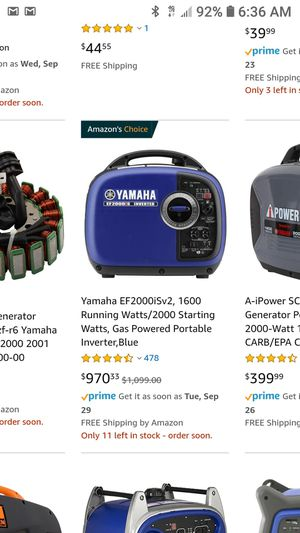 Quiet compact generator for Sale in Tacoma, WA