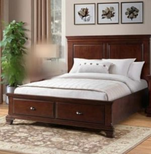 King size bedframe with drawers No mattress new for Sale in Houston, TX