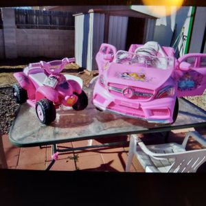 Electric PRINCESS CAR AND 4WHEELER for Sale in Los Lunas, NM