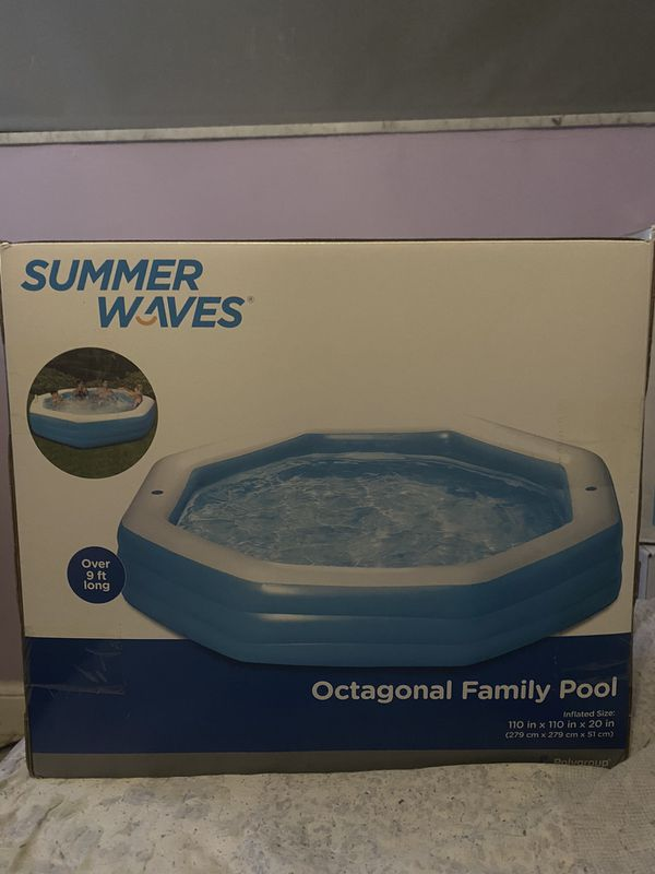 Summer Waves 9ft Octagonal Family Pool