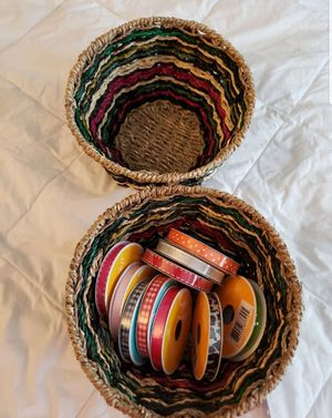 Baskets and ribbon for Sale in Newburgh, IN
