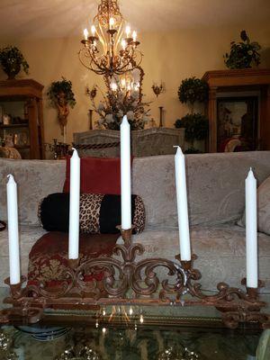 Beautiful wrought iron candelabra for Sale in Boynton Beach, FL
