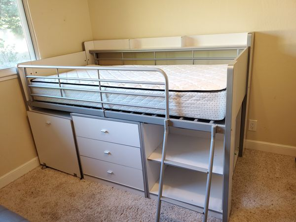 Twin storage loft bed *