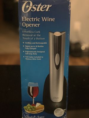 Oster Electric Wine Opener for Sale in Charlotte, NC