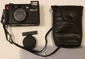 Near Mint Nikon L35 AD Point & Shoot Camera W/ 35mm F2.8 Case Cap Strap Filter for Sale in Bay City, MI