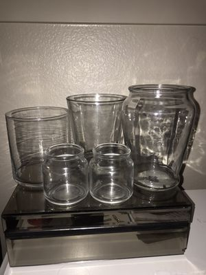 Clear candle jars for Sale in North Las Vegas, NV
