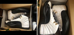 Jordan's Retro 12 Taxis Size 10 & size 7y—2 pairs for Sale in HALNDLE BCH, FL