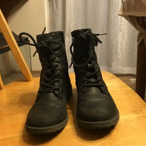 Girls size 3 combat boots for Sale in Marysville, WA