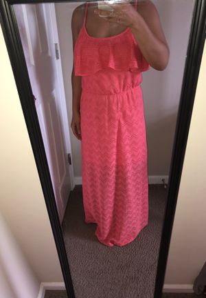 Patterned Peach long dress for Sale in Columbus, OH