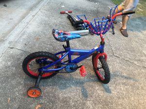12 inch wheel Spiderman bike for Sale in Alpharetta, GA
