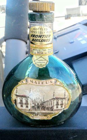 Antique Frontier Airlines wine bottle for Sale in Albuquerque, NM
