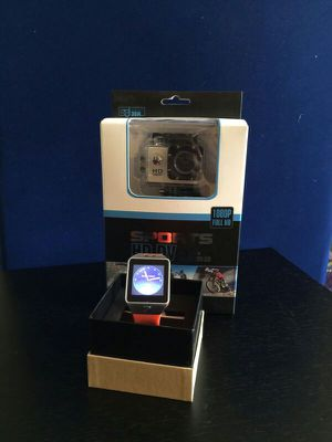 HD sports camera and beautiful smart watch set gift for Sale in Fort Lauderdale, FL