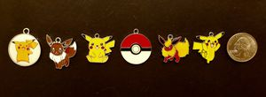 POKEMON 6 pc. CHARM LOT, Brand New, Pikachu x 3, Squirrelfox, Firefox, Pokeball for Sale in Charlotte, NC