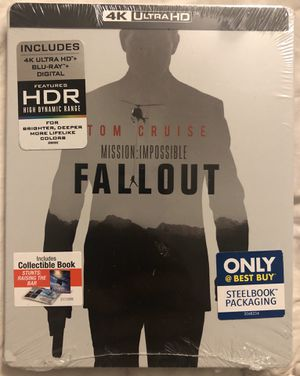 Mission Impossible Fallout 4K, Blu Ray, & Digital Copy Steelbook for Sale in Hacienda Heights, CA