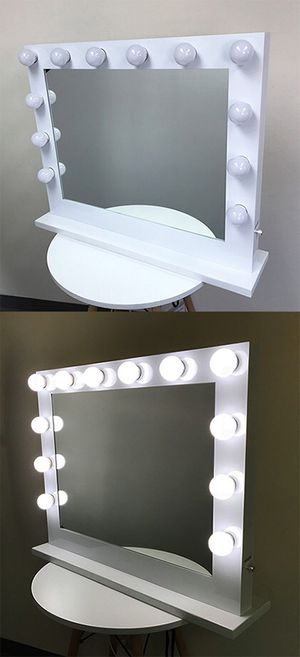 "Brand new $200 X-Large Vanity Mirror w/ 12 Dimmable LED Light Bulbs, Hollywood Beauty Makeup Power Outlet 32x26"" for Sale in Pico Rivera, CA"