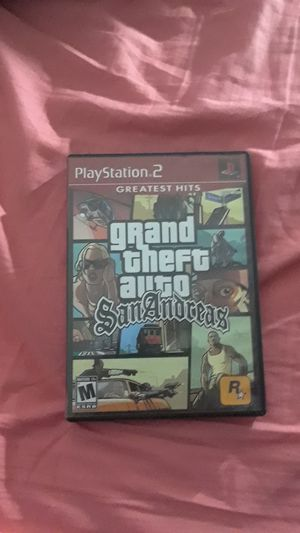 GTA San Andreas for PS2 for Sale in Fremont, CA