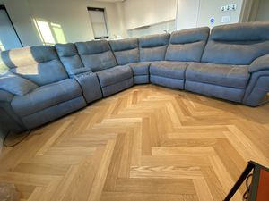 Luxury Alcantara sectional electrical recliners for Sale in West McLean, VA