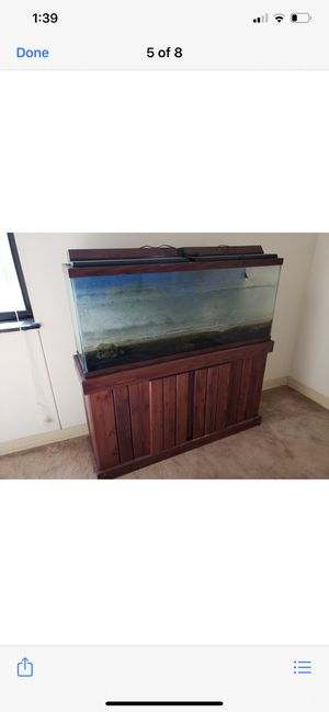 55 gallon Aquarium With stand for Sale in Gaithersburg, MD