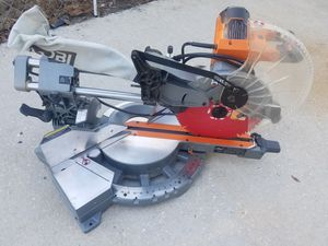 RIDGID 12''70° dual bevel sliding miter saw for Sale in Lakeland, FL