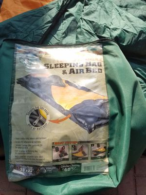 Ozark trail sleeping bag&AIR bed 75×33 for Sale in Tampa, FL