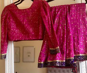 Pink and Purple Bandhani Lehenga for Sale in Washington, DC