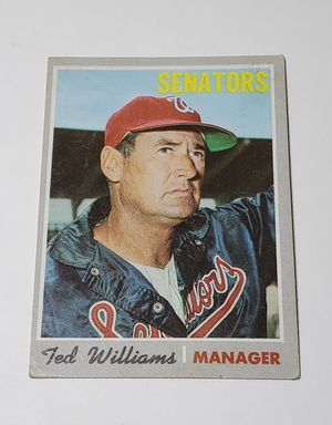1970 Topps Ted Williams Manager Baseball Card for Sale in Compton, CA