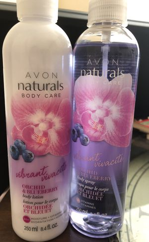 Avon orchid & blueberry body spray & lotion for Sale in Lakeland, FL