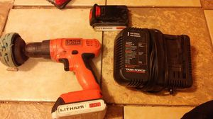 Black and Decker drill with charger and batrery for Sale in Kountze, TX