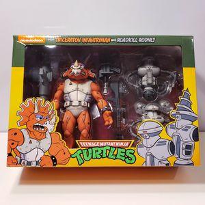 TMNT Triceraton Infantryman & Roadkill Rodney NECA Teenage Mutant Ninja Turtles for Sale in Houston, TX