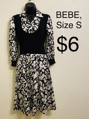BEBE, Black & White 3/4 Sleeve Dress, Size S for Sale in Phoenix, AZ
