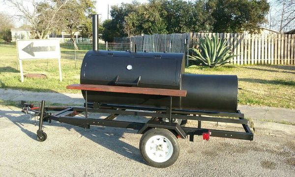 Custom Spurs Bbq Pit On A Trailer For Sale In San Antonio