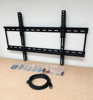 """(NEW) $18 Tilt 32""""-65"""" TV Wall Mount Bracket and 10ft HDMI Cable Combo Set for Sale in Whittier, CA"""