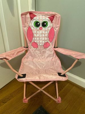 Kids Folding Chair (Pink Owl) for Sale in Annandale, VA