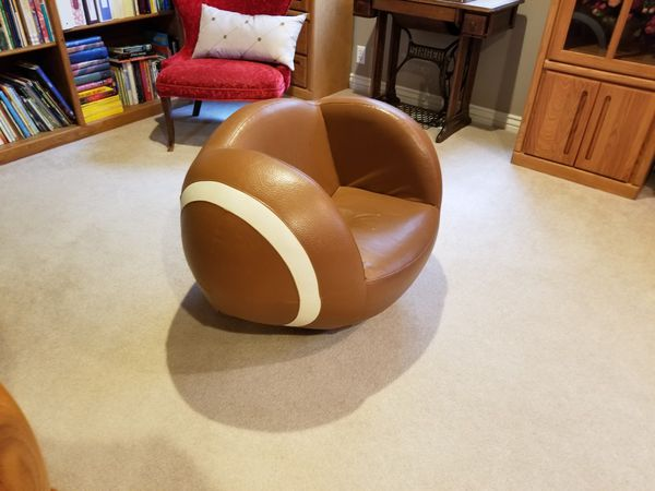 Kids football shaped chair