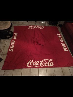Coca Cola big umbrella perfect condition just need four sticks to make the tent selling with bag $25 must pick up for Sale in Doral, FL