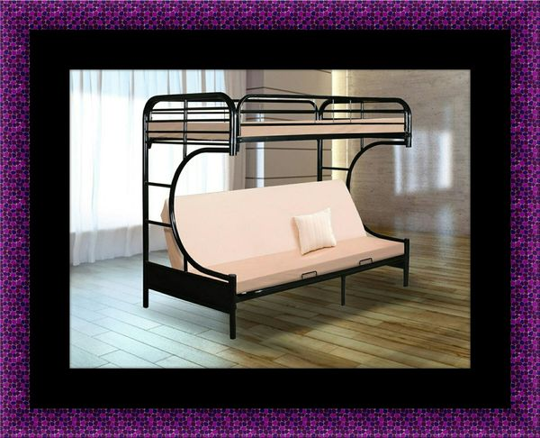 Twin futon bunk bed frame