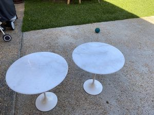 Alphaville Design marble end tables (2) for Sale in South San Francisco, CA