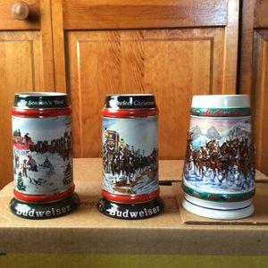 3 Vintage Budweiser steins for Sale in Meriden, CT