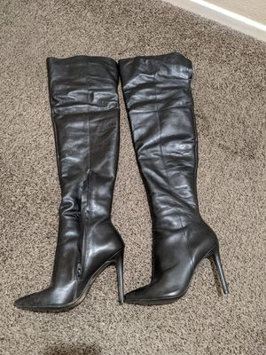 Steve Madden Pinnupp boots black leather, size 6.5 for Sale in Chula Vista, CA