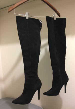 Genuine leather black aldo boots. Size 8.5 for Sale in Alexandria, VA