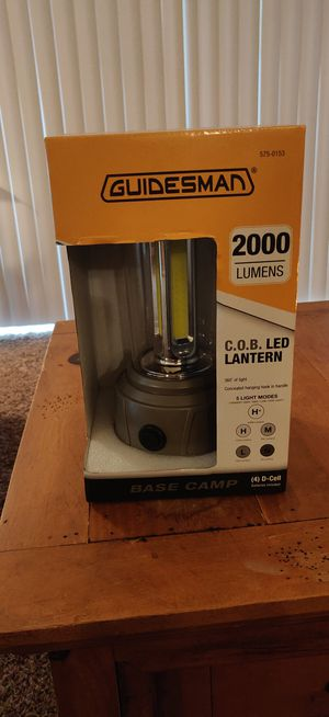 Guidesman 2000 lumens Base Camp lantern for Sale in Sioux Falls, SD