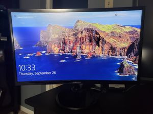 Samsung C24F390FHN Monitor for Sale in Baltimore, MD