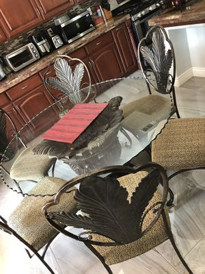 Glass dining table with 6 chairs for Sale in Tulare, CA